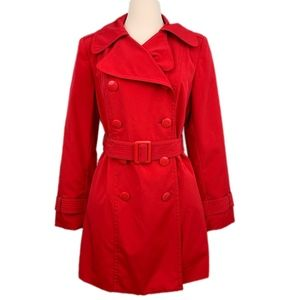 NY and Co  Red Double Breasted-Trench Coat M NEW